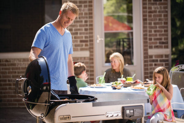 Cook with confidence on the Weber Performer Deluxe GBS Charcoal 57cm Barbecue (15501004)