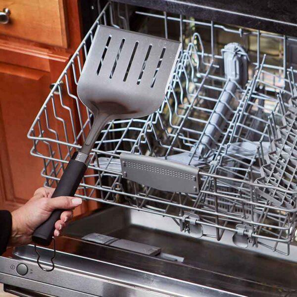 Weber Precision Wide Barbecue Spatula is dishwasher safe