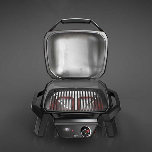 Weber Pulse 1000 Electric Barbecue with Lid Up