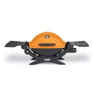 Weber Q-1200 Gas Grill Barbecue (Orange)