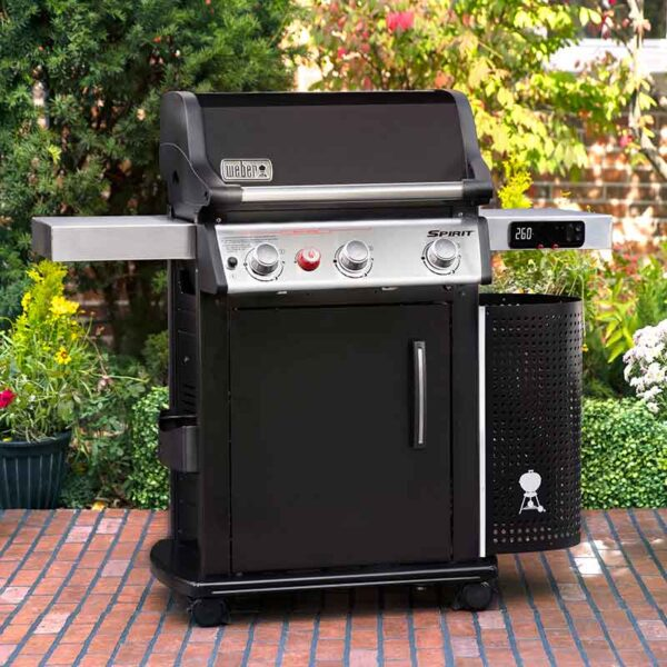 Weber Spirit EPX-325S GBS Smart Barbecue in garden
