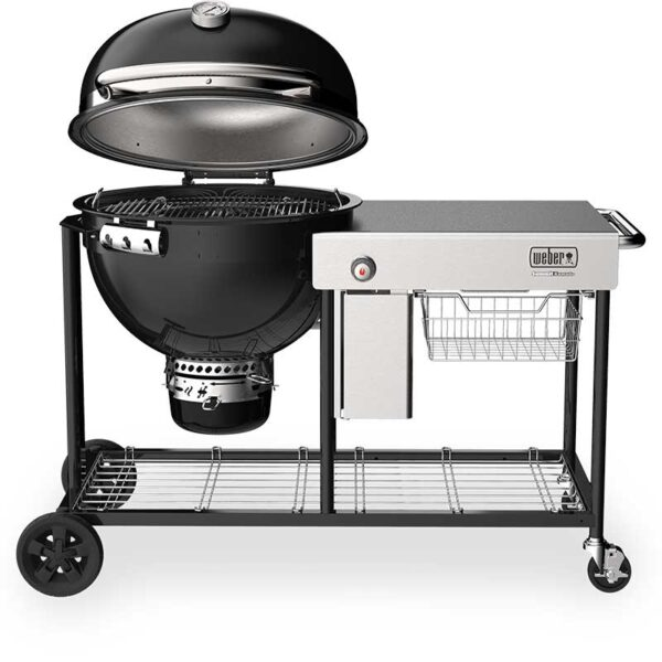 Weber Summit Kamado S6 Charcoal Grill Centre showing lid open