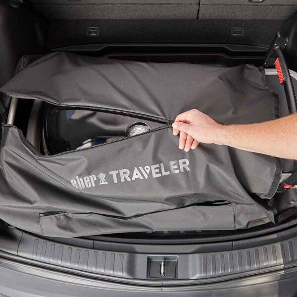 Weber Traveler Barbecue Cargo Protector zips shut