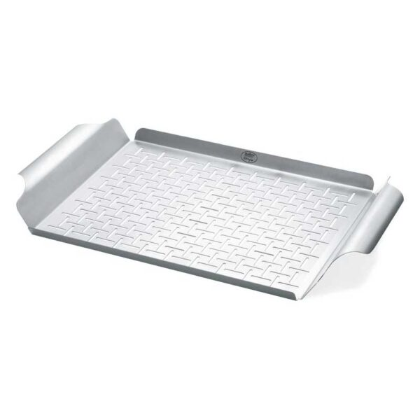 Weber Barbecue Deluxe Grilling Pan - Rectangular (Stainless Steel) #6435