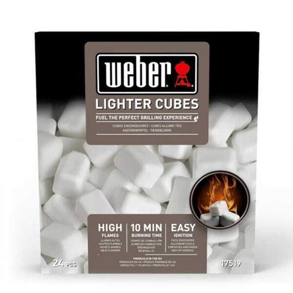 Weber Barbecue Lighter Cubes (24 pcs) to ignite BBQs fast #17670