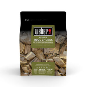 Weber Wood Chunks for barbecue smoking - Mesquite (1.5 kg)