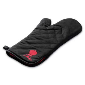 Weber Barbecue Premium Grill Mitt (Black with red kettle logo) #6472