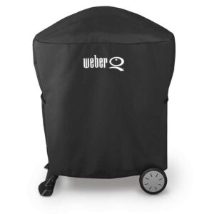 Weber Premium Cover for Q 100 / 1000 / 200 / 2000 with stand or portable cart (Black)