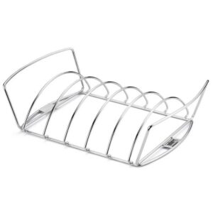 Weber Barbecue Premium 2-in-1 Grilling Rack (Reversible) #6469 - showing rib rack side