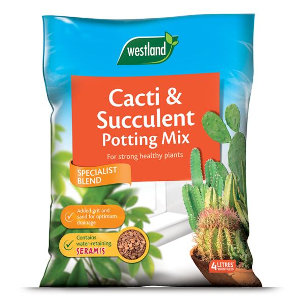 Westland Cacti & Succulent Potting Mix (Enriched with Seramis) 4 litre