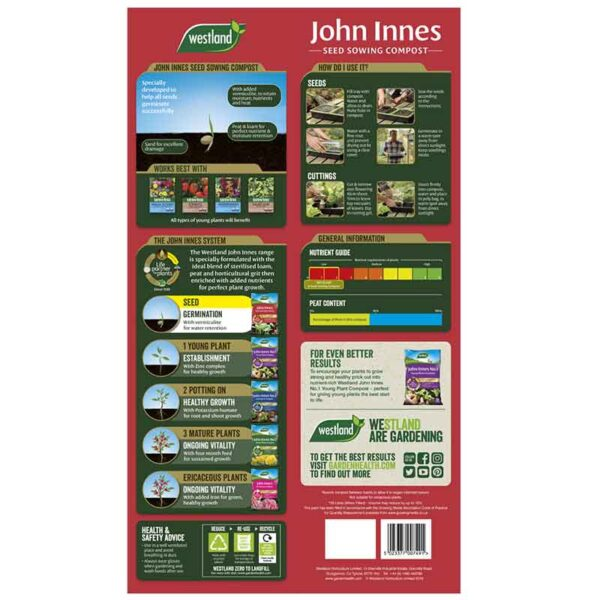 Westland John Innes Seed Sowing Compost information