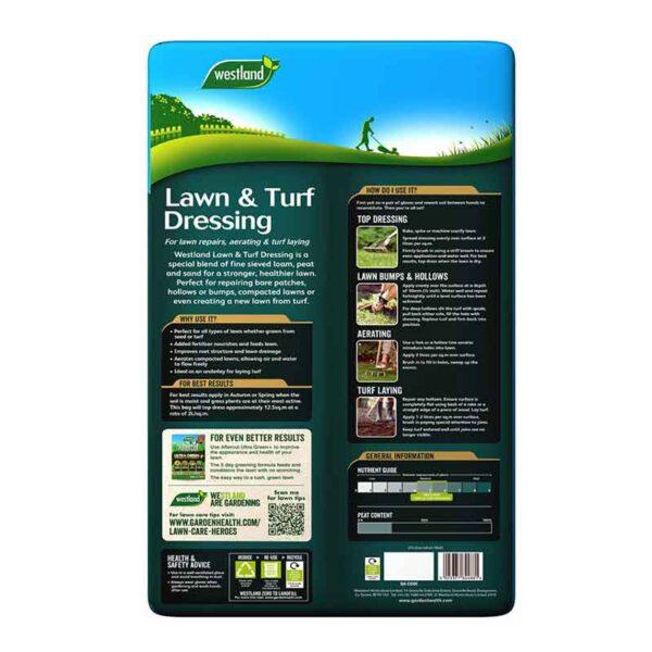 Westland Lawn & Turf Dressing 25 Litres Pack Details