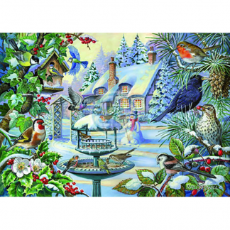 House Of Puzzles Winter Birds Big500 Piece Jigsaw
