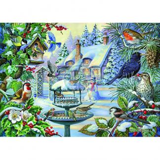 House Of Puzzles Winter Birds Big500 Piece Jigsaw