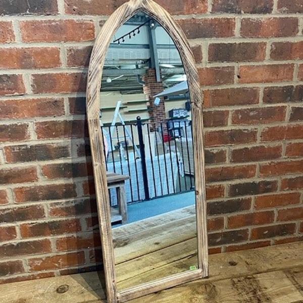 Woodlodge St Johns Gothic Wooden Garden Mirror 2