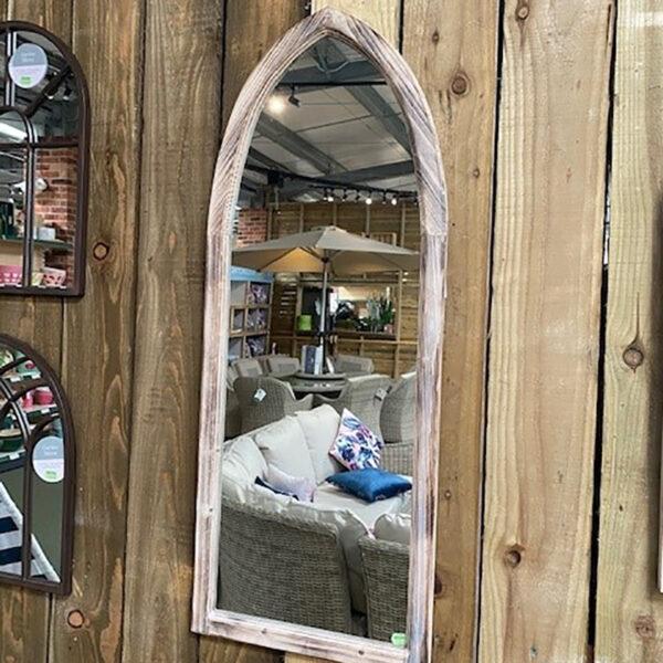 Woodlodge St Johns Gothic Wooden Garden Mirror