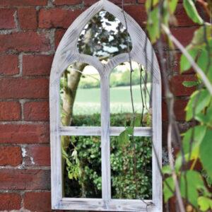 Woodlodge St Lukes Wooden Garden Mirror