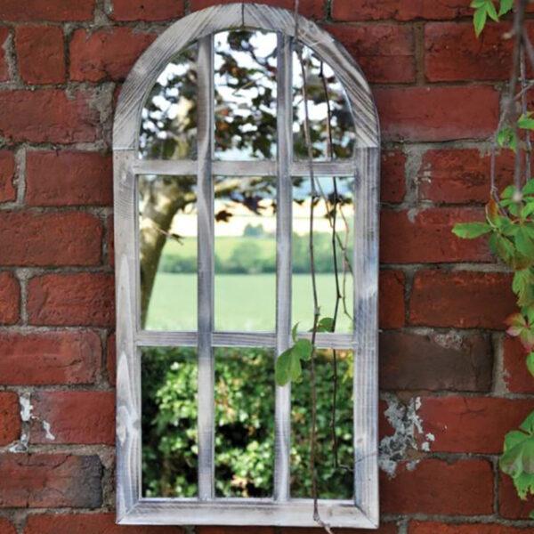 Woodlodge St Simon Wooden Oval Garden Mirror