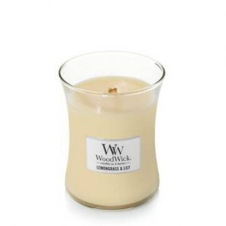 Woodwick Medium Hourglass - Lemongrass & Lily