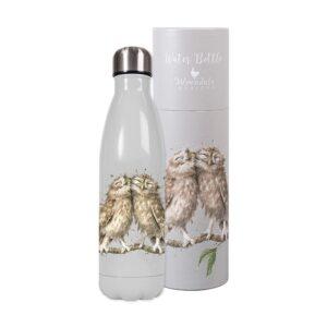 Wrendale Designs Water Bottle - Owl (500ml)
