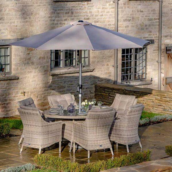 Bramblecrest Ascot 6 Seat Garden Dining Set