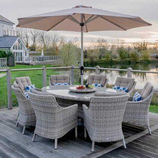 Bramblecrest Ascot 8 Seat Garden Dining Set