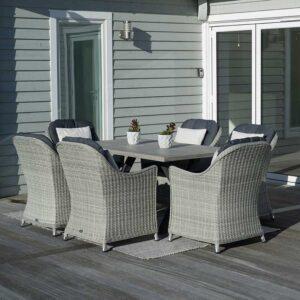Bramblecrest Monterey Rectangular 6 Seat Dining Set