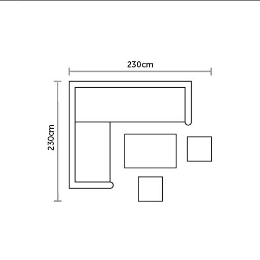 Bramblecrest Mini Adjustable Glass Top Casual DIning Set Plan