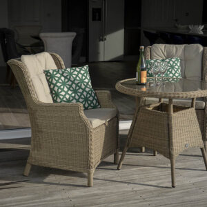 Bramblecrest Oakridge 80cm Round Bistro Table Set