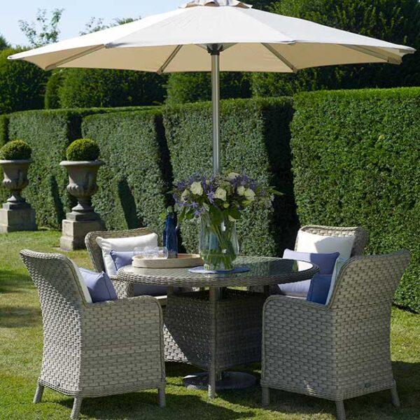 Bramblecrest Patagonia 4 seat Garden Dining Set