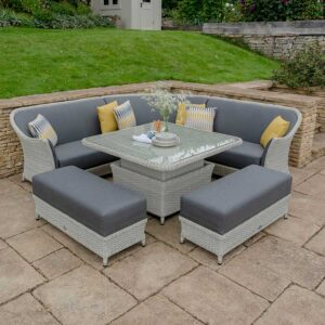 Bramblecrest Panama Adjustable Square Casual Dining Suite
