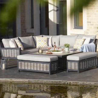 Bramblecrest Portofino Modular Sofa with Square Adjustable Table