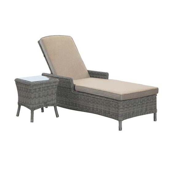 Bramblecrest Ascot Sun Lounger with High Coffee Table
