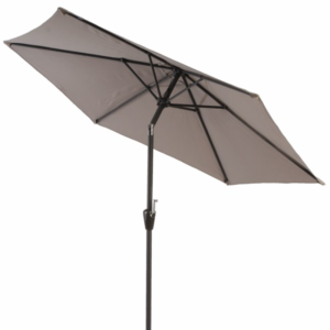 Sturdi Plus Aluminium Round Crank and Tilt 3m Parasol (shown in Taupe)