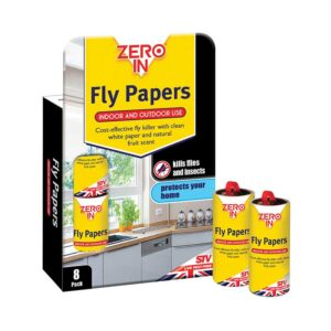 Zero In Fly Papers (Pack of Eight)