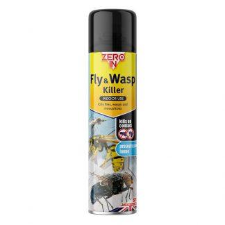 Zero In Fly & Wasp Killer Spray - 300ml Aerosol