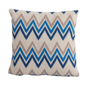 Zig Zag Blue Square Scatter Cushion