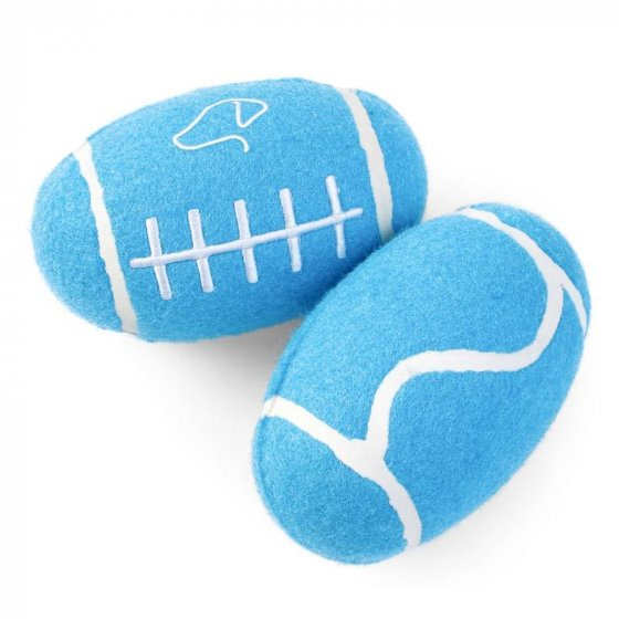Zoon Squeaky Pooch Rugger Ball