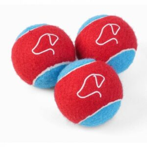 Zoon 5cm Mini Power Pooch Tennis Balls - 3 Pack