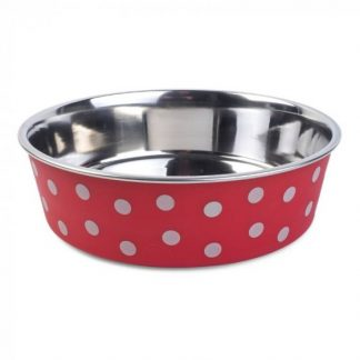 Zoon Bella Bowl - Red Polka Dots