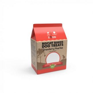 Zoon Biscuit Bakes - Strawberry Hearties 400g