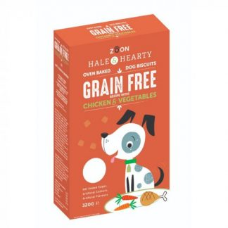 Zoon Hale & Hearty - Chicken & Vegatable Grain Free Dog Biscuits
