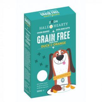 Zoon Hale & Hearty - Duck & Orange Grain Free Dog Biscuits