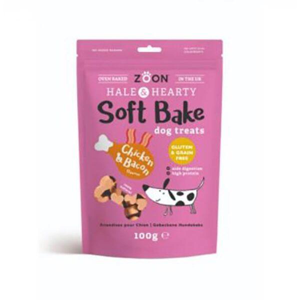 Zoon Hale & Hearty Soft Bake Dog Treats -Chicken & Bacon