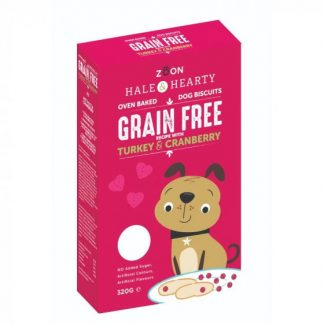 Zoon Hale & Hearty - Turkey & Cranberry Grain Free Dog Biscuits