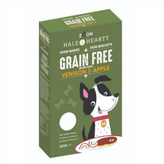 Zoon Hale & Hearty - Venison & Apple Grain Free Dog Biscuits