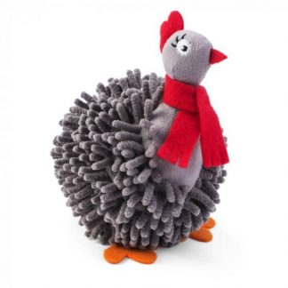 Zoon Noodly Partridge Dog Toy Grey