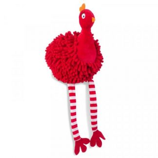 Zoon Noodly Partridge Dog Toy - Red