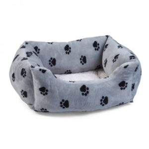 Zoon Snugpaws Square Bed - Grey