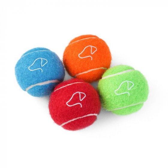 Zoon Squeaky Pooch Tennis Balls 12 Pack